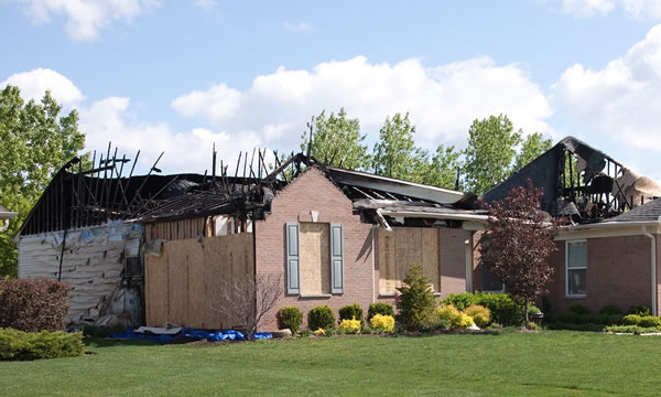 Fire Damage Repair in Central Michigan.